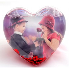 Glob foto inima personalizat cu recipient