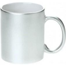 Cana personalizata de culoare argintie cu efect metalic